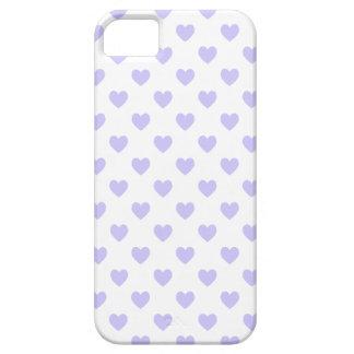 Corazones púrpuras del lunar iPhone 5 protector