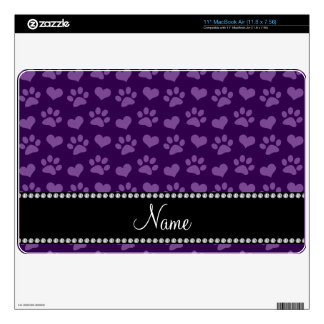 Corazones púrpuras e impresiones conocidos calcomanía para el MacBook