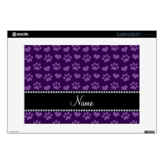 Corazones púrpuras e impresiones conocidos portátil skins