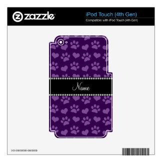 Corazones púrpuras e impresiones conocidos skins para iPod touch 4G