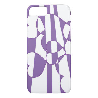 Corazones púrpuras funda iPhone 7