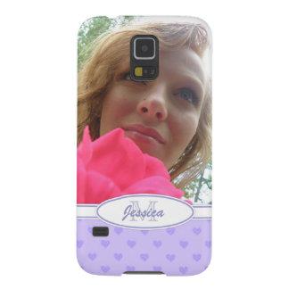 Corazones púrpuras: Monograma: Imagen Carcasas De Galaxy S5