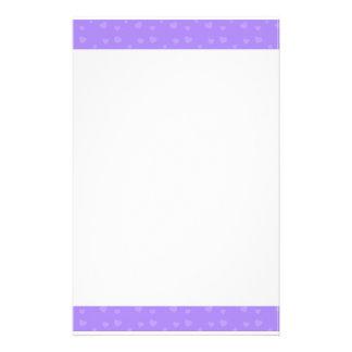 Corazones púrpuras  papeleria