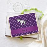 Corazones púrpuras personalizados de la cebra