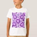 Corazones púrpuras playera