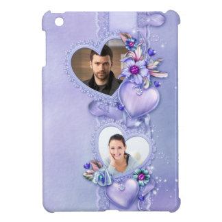 Corazones púrpuras románticos de la foto - persona