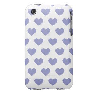 Corazones púrpuras violetas del lunar iPhone 3 cobertura