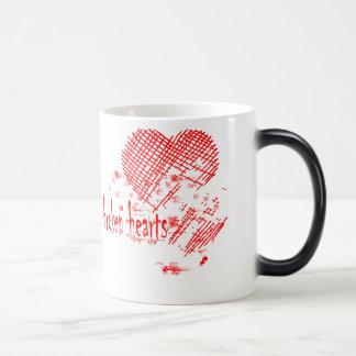 corazones quebrados tazas de café