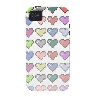 Corazones retros Case-Mate iPhone 4 carcasa
