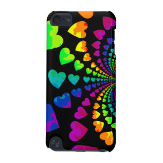 Corazones retros lindos del arco iris