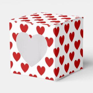 Corazones rojos caja para regalo de boda