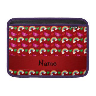 Corazones rojos conocidos de encargo de los arco funda  MacBook