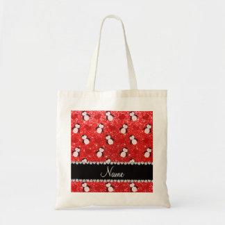 Corazones rojos de neón conocidos personalizados bolsa tela barata