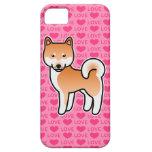 Corazones rojos del amor de Shiba Inu iPhone 5 Carcasas
