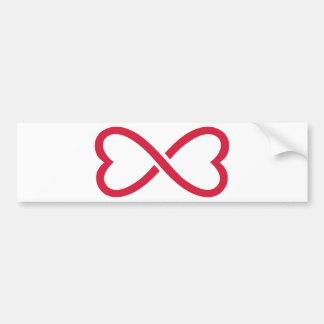 Corazones rojos del amor del infinito pegatina para auto