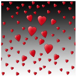 Corazones rojos del amor. Modelo Fotoescultura Vertical