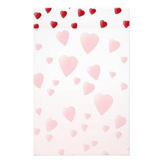 Corazones rojos del amor. Modelo Papelería
