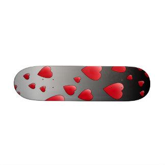 Corazones rojos del amor. Modelo Tabla De Skate