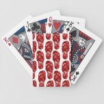 Corazones rojos en diseño del flip-flop baraja de cartas
