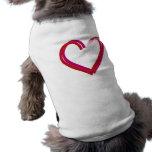 Corazones rojos frescos camisetas mascota