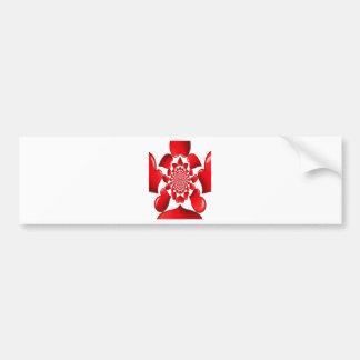 Corazones rojos grandes de la tarjeta del día de pegatina para auto