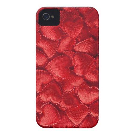 Corazones rojos iPhone 4 cárcasas