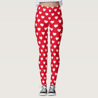 Corazones rojos leggings