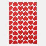 Corazones rojos lindos toalla de mano