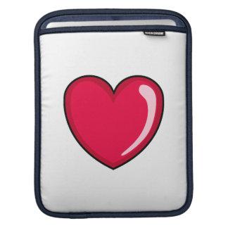 Corazones rojos mangas de iPad