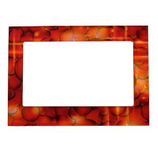 Corazones rojos marcos magneticos para fotos
