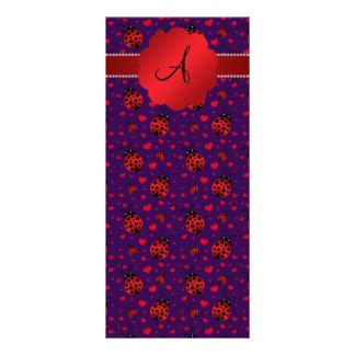 Corazones rojos púrpuras de las mariquitas del lonas personalizadas
