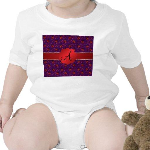 Corazones rojos púrpuras de las mariquitas del mon camiseta