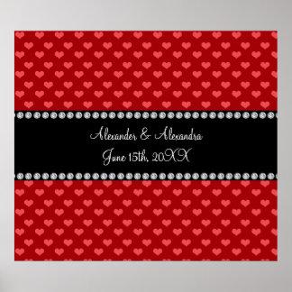 Corazones rojos que casan favores póster
