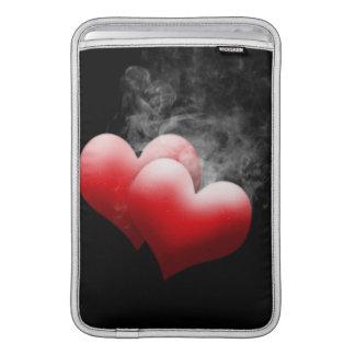 """Corazones rojos que fuman 11"""" manga de MacBook Fundas Para Macbook Air"""