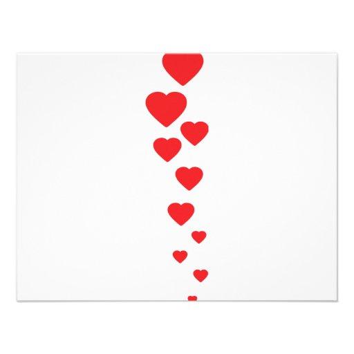 corazones rojos que vuelan al icono del cielo invitaciones personales