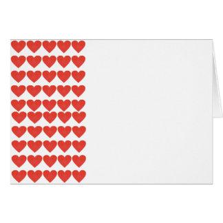 Corazones rojos tarjeta de felicitación