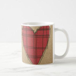 Corazones rojos taza