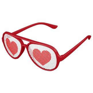 Corazones rojos traviesos divertidos gafas de fiesta