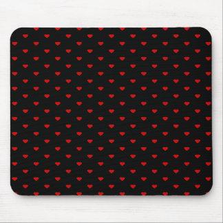 Corazones rojos y negros Modelo Alfombrillas De Raton