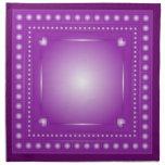 Corazones románticos de la lila servilletas