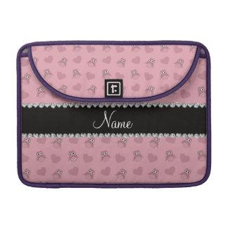 Corazones rosados bonitos conocidos personalizados fundas macbook pro