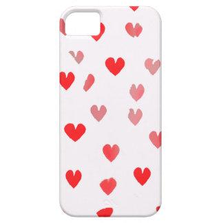 Corazones rosados bonitos funda para iPhone 5 barely there