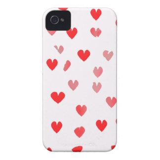 Corazones rosados bonitos iPhone 4 cárcasas