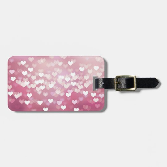 Corazones rosados brillantes del fondo del vector  etiquetas para maletas
