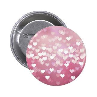 Corazones rosados brillantes del fondo del vector  pin