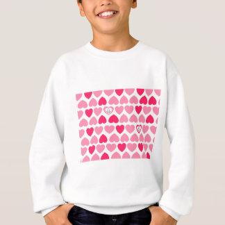 Corazones rosados con 2 corazones sonrientes sudadera