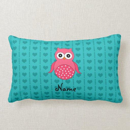 Corazones rosados conocidos personalizados de la almohada