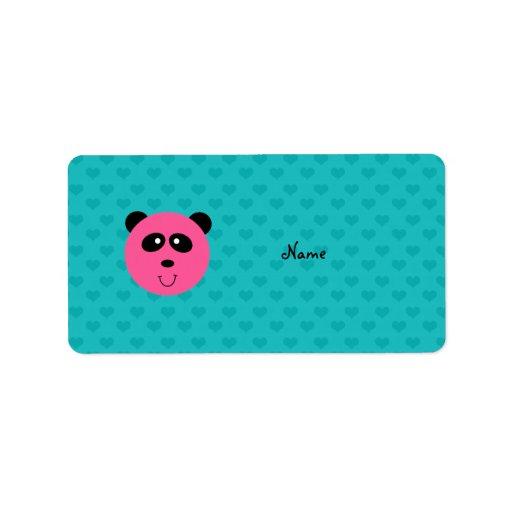 Corazones rosados conocidos personalizados de la t etiquetas de dirección