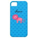 Corazones rosados conocidos personalizados del azu iPhone 5 Case-Mate protector