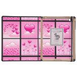 Corazones rosados de Girlie del amor iPad Protector
